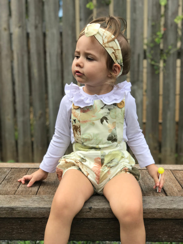 Detachable Overall + TopKnot - Fawn,  - LollipopHouse