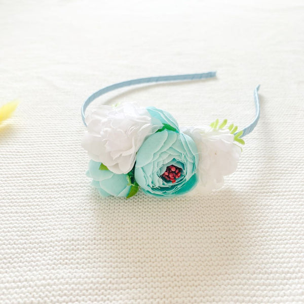 Flower Headband - Ice Blue