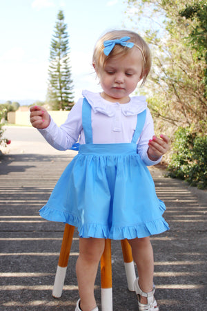 Detachable Ruffle Skirt - Powder Blue + Headband,  - LollipopHouse