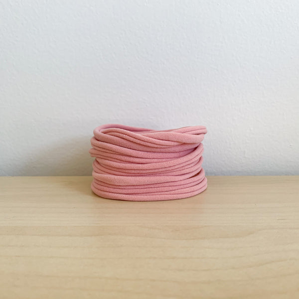 Ultrasoft Baby Nylon Headbands - Dusty Pink