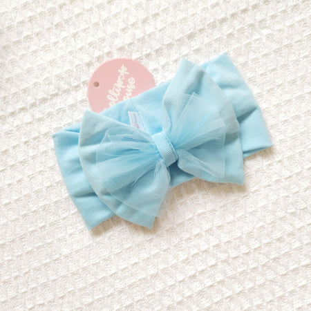 Tulle Headwrap - Maya Blue,  - LollipopHouse