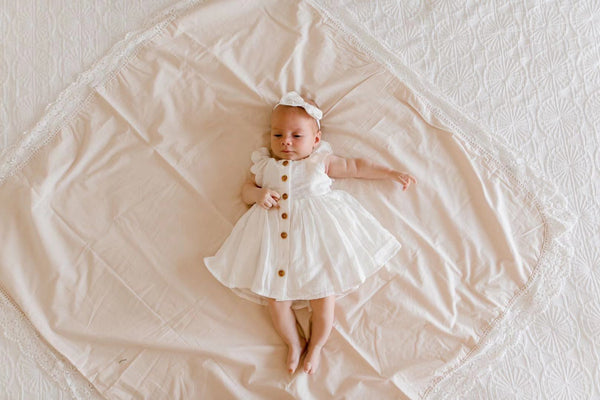 Day Dreamer Dress + Bow - White