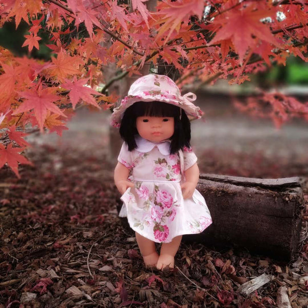 Doll Dress + Sun Hat - Izzy,  - LollipopHouse