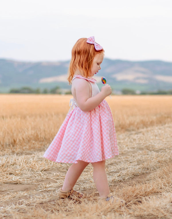 Summer Dress + Bow - Fairy Floss