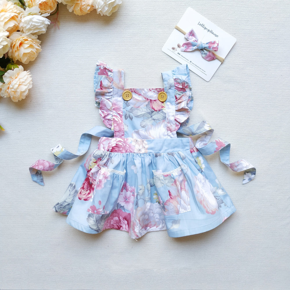 Detachable Flutter Pinny + Headband - Kenzie