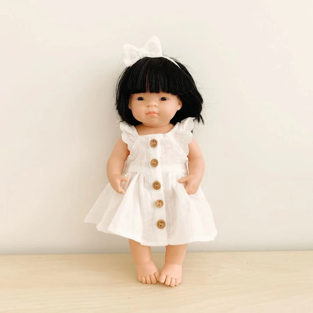 Doll Day Dreamer Dress + Bow - White