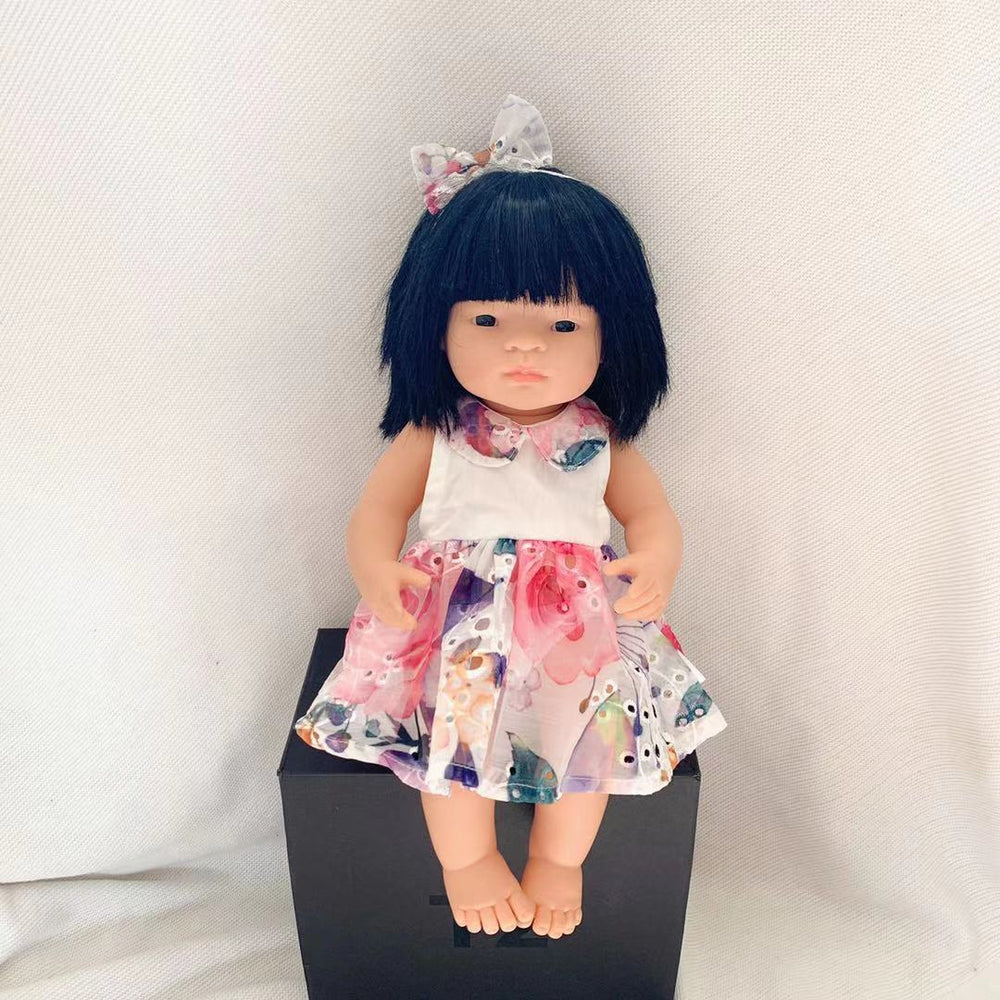Doll Summer Dress + Bow - Sophia