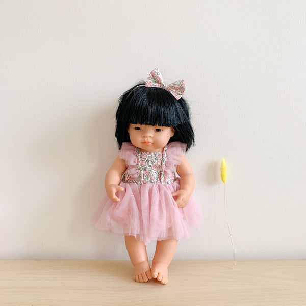 Doll Fairy Tutu Dress + Bow - Delilah