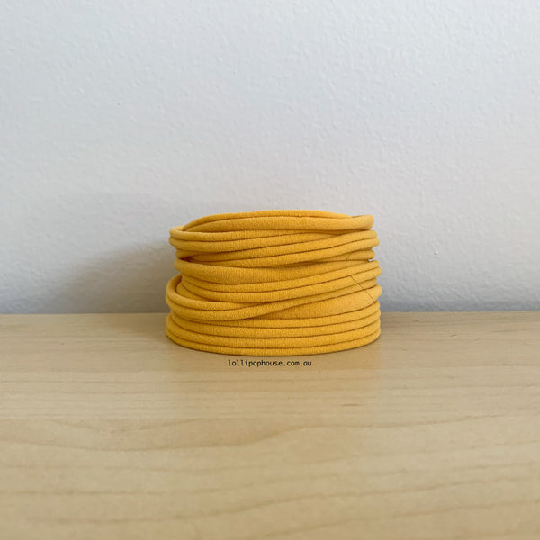 Ultrasoft Baby Nylon Headbands - Mustard