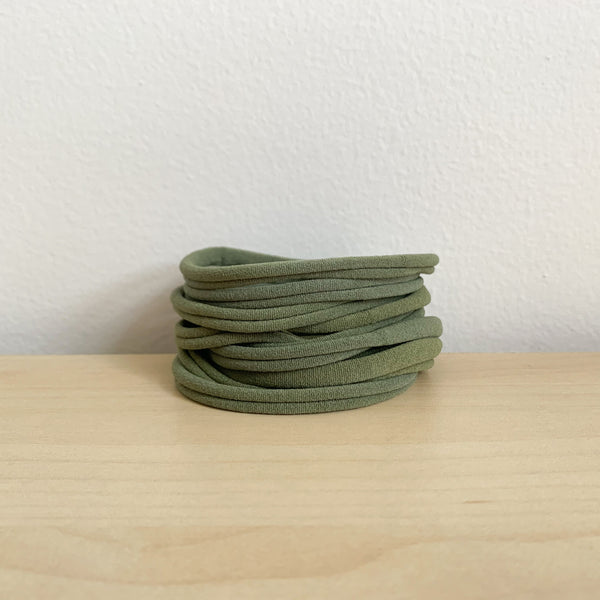 Ultrasoft Baby Nylon Headbands - Olive