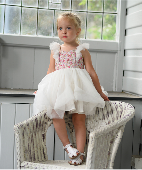 Fairy Tutu Dress + Bow - Rosetta