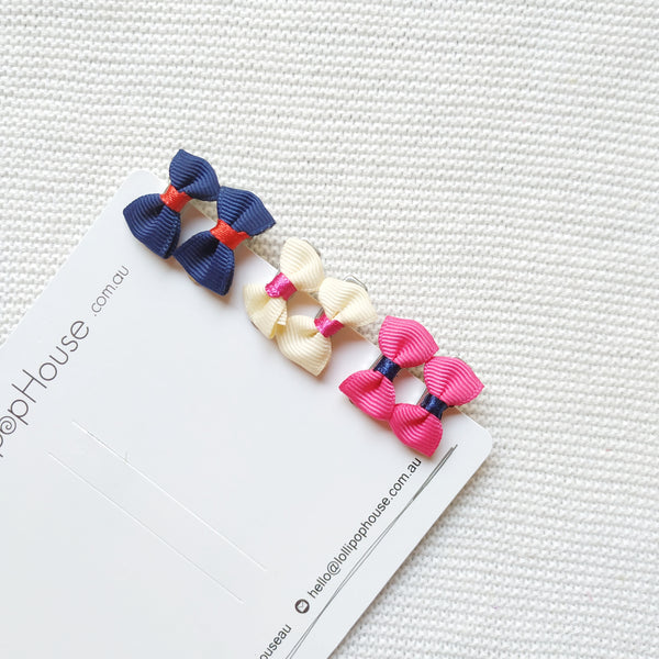 Wisp Hair Clips - Navy Pack,  - LollipopHouse