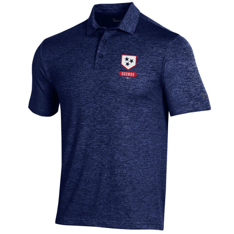 Nashville Sounds Under Armour Navy Playoff Polo