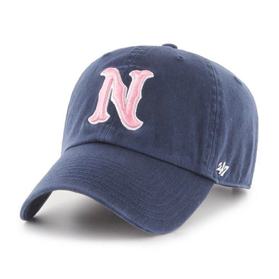 Nashville Sounds '47 Brand Pink N Logo Navy Clean Up Hat