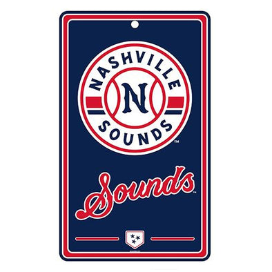 "Nashville Sounds Logo 7"" x 12"" Sign"