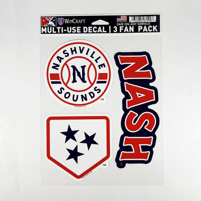 Nashville Sounds Multi Use Decal Fan Pack