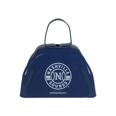 Nashville Sounds Navy Primary Logo Cowbell