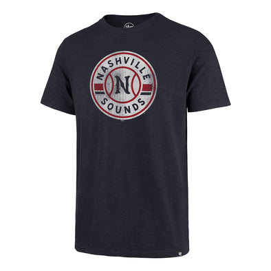 Nashville Sounds '47 Brand Fall Navy Primary Logo Grit Scrum Tee