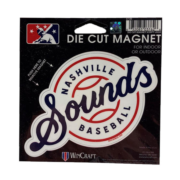 Nashville Sounds Lockup Logo Die Cut Magnet