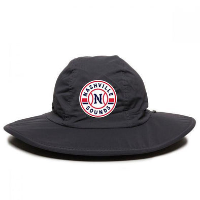 Nashville Sounds Graphite Primary Logo Boonie Hat