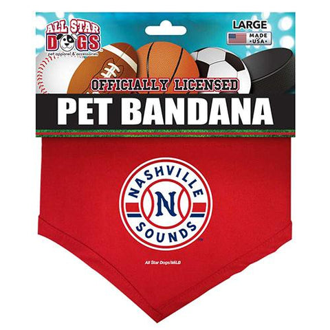 Nashville Sounds Red Dog Bandana