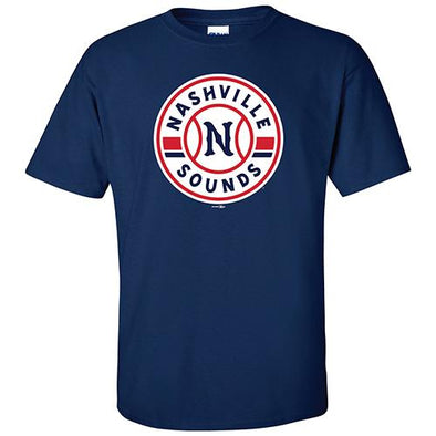 Nashville Sounds Navy Primary Logo Tee