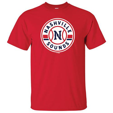 Nashville Sounds Red Primary Logo Tee