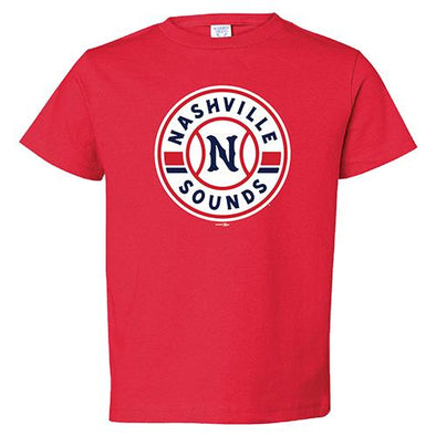 Nashville Sounds Toddler Red Primary Logo T