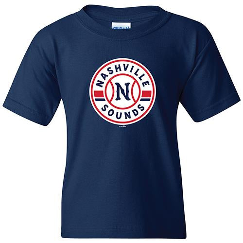 Nashville Sounds Youth Navy Primary Logo Tee