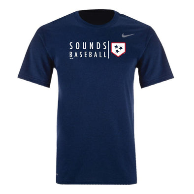 Nashville Sounds Nike Navy Plate Logo Dri-Fit Tee