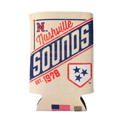 Nashville Sounds Primary Logo 12oz Can Cooler