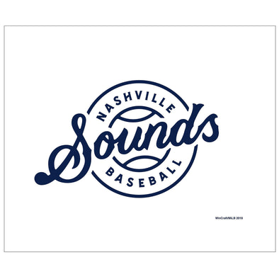Nashville Sounds White Lockup Logo Rally Towel