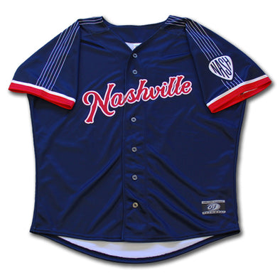 Nashville Sounds Adult Replica Navy Alternate Jersey