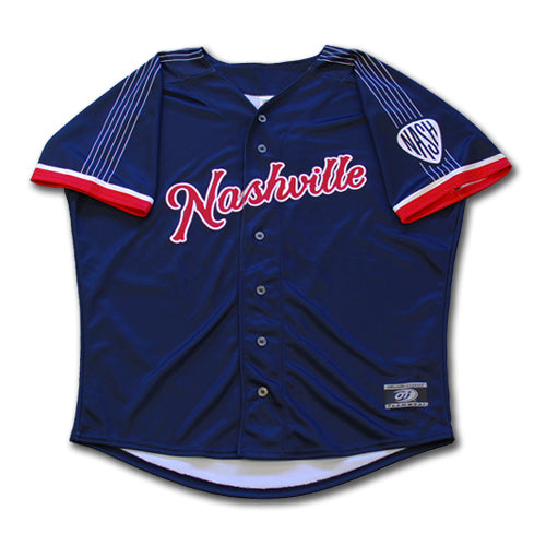Nashville Sounds Youth Replica Navy Alternate Jersey