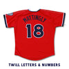 Nashville Sounds Adult Replica Red Alternate Jersey