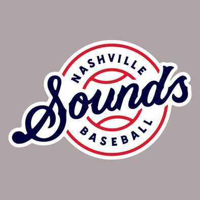 Nashville Sounds Script Lockup Logo Perfect Cut Decal