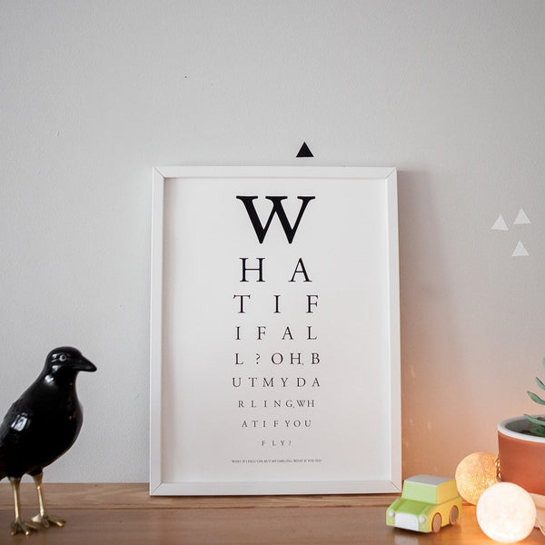 Artprint - What if I fall? Oh but my darling, what if you fly?