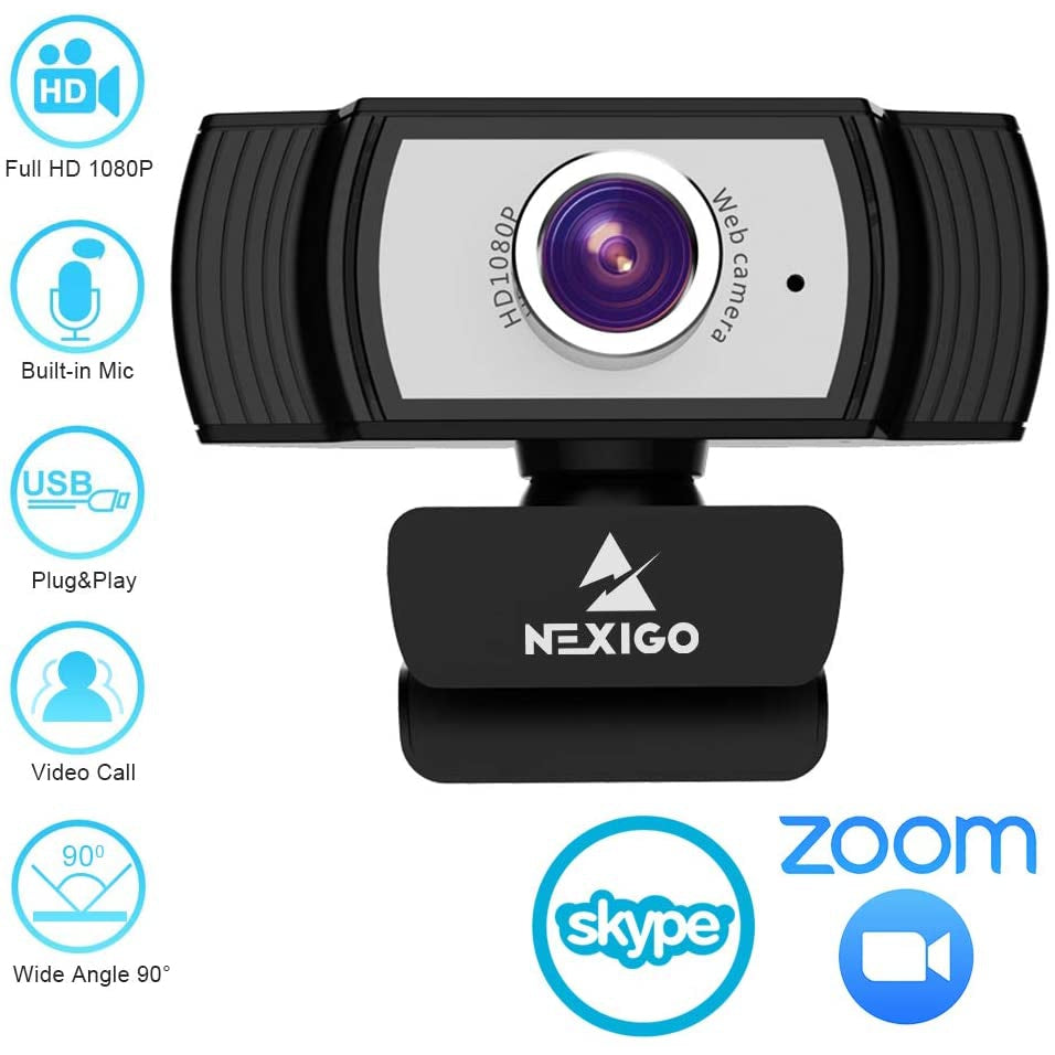 1080P Webcam for Streaming, 2021 N930 NexiGo Web Camera with Microphone, for Zoom Meeting YouTube Skype FaceTime Hangouts OBS Xbox XSplit, Compatible for Mac OS Windows Laptop Desktop Computers Monitors - NexiPC