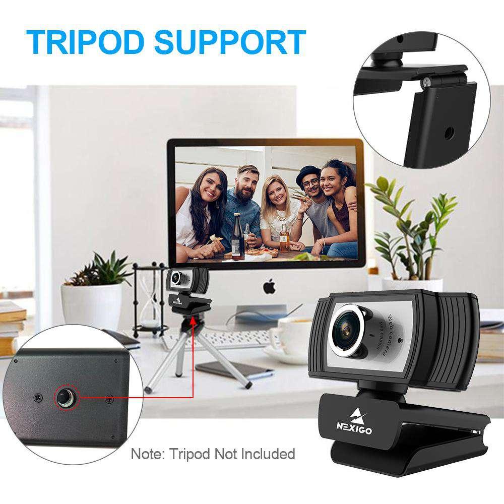 1080P Webcam for Streaming, 2020 NexiGo Web Camera with Microphone, for Zoom Meeting YouTube Skype FaceTime Hangouts OBS Xbox XSplit, Compatible for Mac OS Windows Laptop Desktop Computers Monitors - NexiPC
