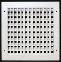 "12"" X 10"" ADJUSTABLE AIR SUPPLY DIFFUSER - HVAC Vent Duct Cover Sidewall or ceiling - Grille Register - High Airflow - White"