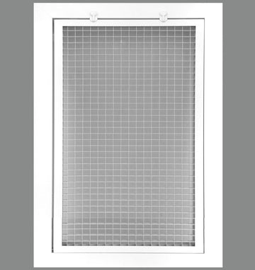 "12"" x 14"" Cube Core Eggcrate Return Air Filter Grille for 1"" Filter - Aluminum - White [Outer Dimensions: 14.5""w X 16.5""h]"