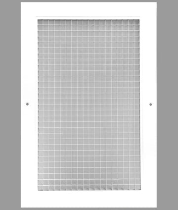 "14"" x 20"" Cube Core Eggcrate Return Air Grille - Aluminum Rust Proof - HVAC Vent Duct Cover - White [Outer Dimensions: 16.5""w X 22.5""h]"