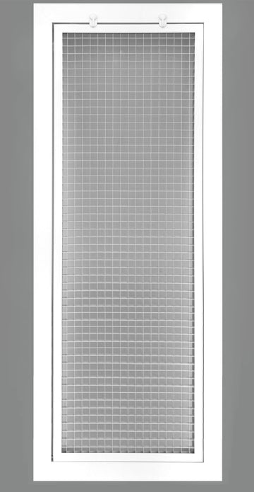 "12"" x 36"" Cube Core Eggcrate Return Air Filter Grille for 1"" Filter - Aluminum - White [Outer Dimensions: 14.5""w X 38.5""h]"