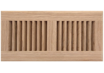 "12"" x 3"" Decorative Wood Supply Air Vent HVAC Duct Cover Grille - Polished Finish Red Oak Wood - 2-Way Air Direction - [Outer Dimensions: 14w X 5""h]"