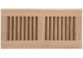 "12"" x 6"" Decorative Wood Supply Air Vent HVAC Duct Cover Grille - Polished Finish Red Oak Wood - 2-Way Air Direction - [Outer Dimensions: 14w X 8""h]"