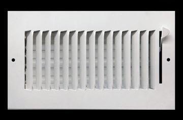 "16"" X 8"" 1-Way AIR SUPPLY GRILLE - DUCT COVER & DIFFUSER - Flat Stamped Face - White [Outer Dimensions: 17.75""w X 9.75""h]"