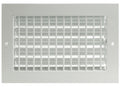 "12""w X 8""h ADJUSTABLE AIR SUPPLY DIFFUSER - HVAC Vent Duct Cover Sidewall or ceiling - Grille Register - High Airflow - White"