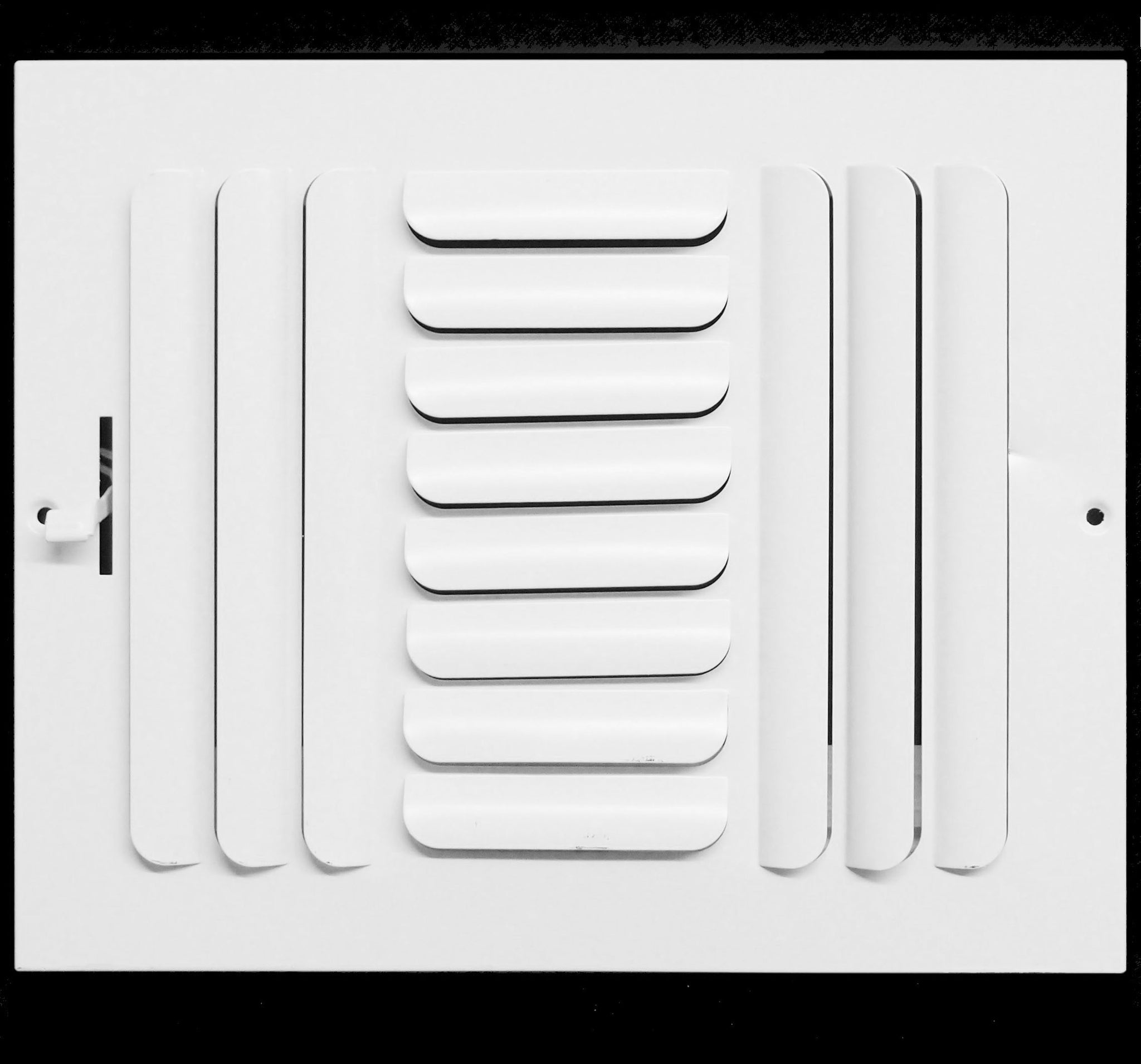 White Sidewall or Ceiling High Airflow Vent Duct Cover 12 X 4 3-Way Fixed Curved Blade AIR Supply Diffuser Grille Register