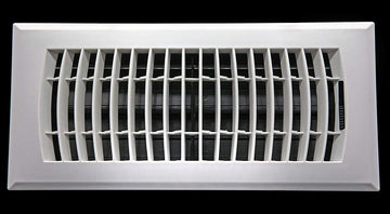 "12"" x 4"" Floor Register HVAC Air Supply Grille - Heavy Duty Rigid Built - Plastic Never Rust Vent Duct Cover [Outer Dimensions: 14w X 6""h]"