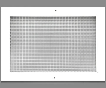 "12"" x 14"" Cube Core Eggcrate Return Air Grille - Aluminum Rust Proof - HVAC Vent Duct Cover - White [Outer Dimensions: 14.5""w X 16.5""h]"